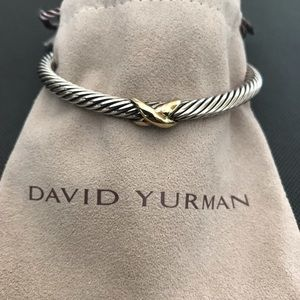 David Yurman, X Two Tone Cable Bracelet